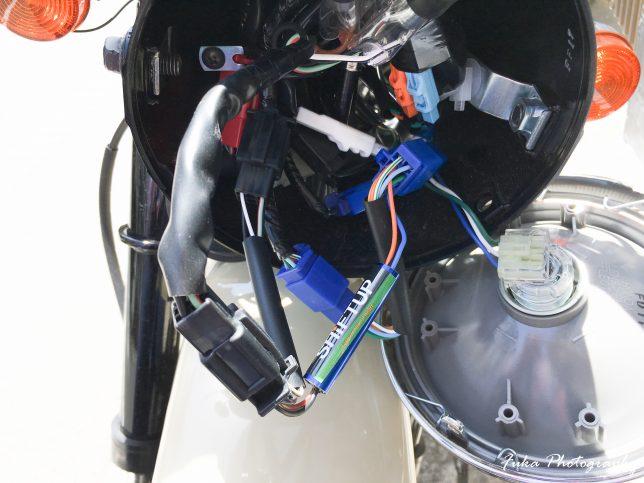 SHIFT UP モンキーFI専用インジケーターハーネス 205122-IH 取り付け
