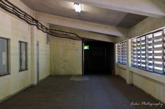 土合駅 地下ホーム方向