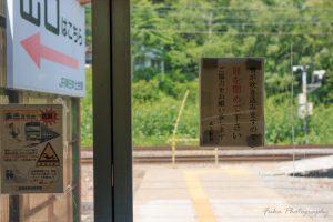 土合駅 地上ホーム前のドア