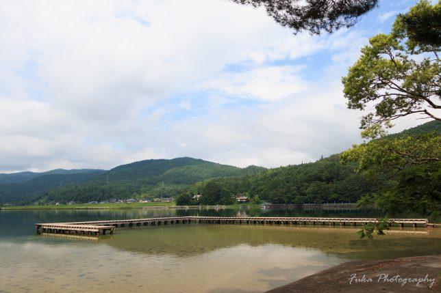 木崎湖キャンプ場 いちご桟橋