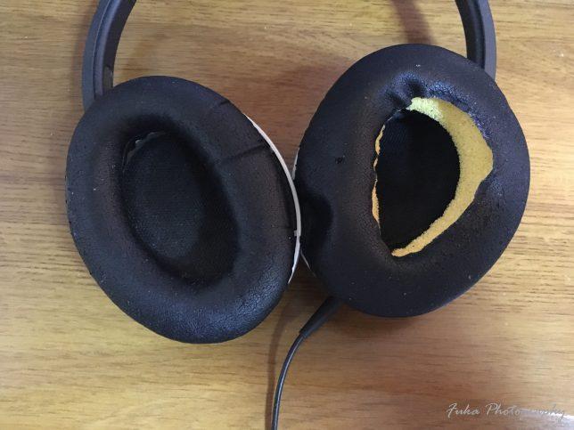 BOSE AE2 audio headphones イヤークッション交換前