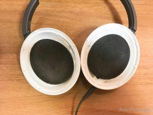 BOSE AE2 audio headphones イヤークッション交換中
