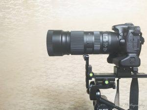[MENGS] CL-70S クイックリリースプレート に [MENGS] レンズサポート L200 レール を取り付け