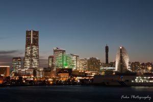 横浜 大さん橋 みなとみらい21の夜景