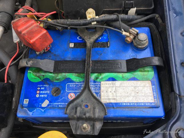 インプレッサ「GDB-F」についてたバッテリーPanasonic 「Blue Battery カオス N-95D23L」