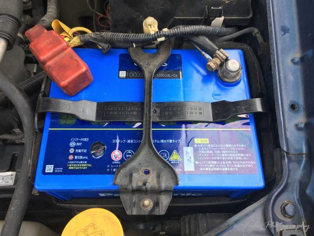インプレッサ「GDB-F」のバッテリーをPanasonic 「Blue Battery カオス C6 N-100D23L/C6」に交換