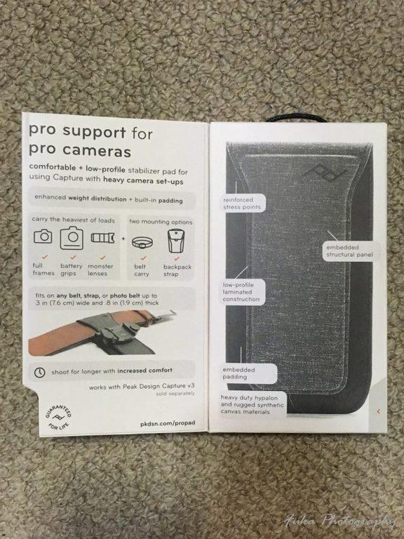 PeakDesign 「PRO PAD」 PP-2 パッケージ中面