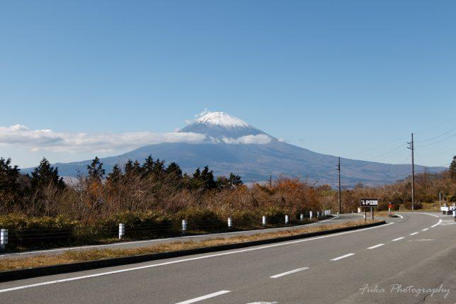 箱根スカイライン料金所から見た富士山