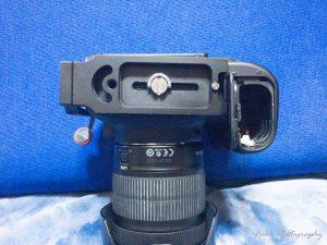 EOS70Dに直接 MENGS 「L型プレート MPU-100」を取り付け