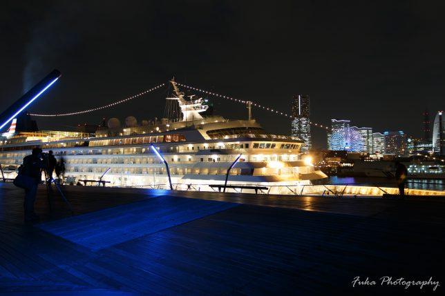 横浜港大さん橋国際客船ターミナル 屋上 くじらのせなか 飛鳥Ⅱ