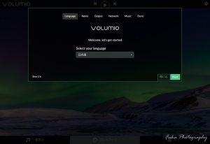 volumio初期設定Language画面