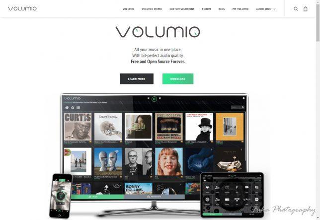 volumio WEBページ