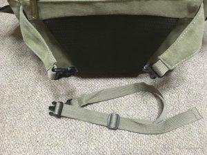 EtsHaim A450 CANVAS BAG ベルトを取り外したところ