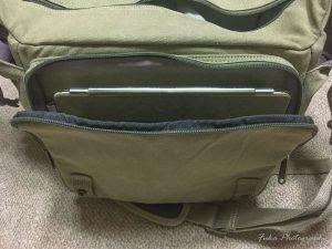 EtsHaim A450 CANVAS BAG 全面ポケットにiPadを入れてみたところ