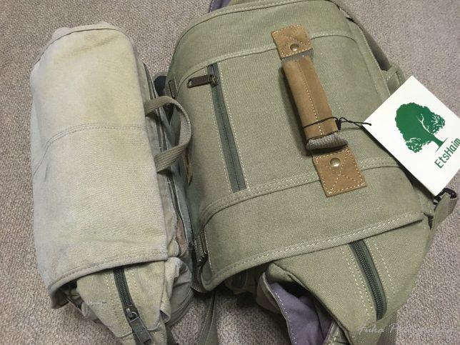 「EtsHaim A450 CANVAS BAG」と「ETSHAIM V300 EG CANVAS BAG」のサイズ比較