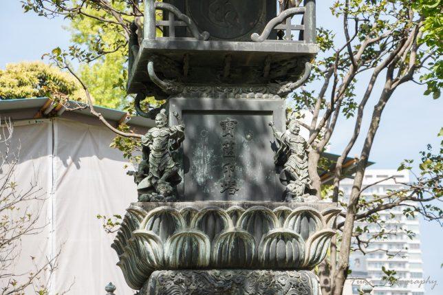 浅草寺 銅造宝篋印塔