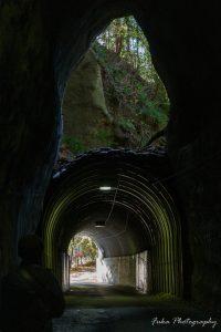 養老渓谷 二階建てトンネル