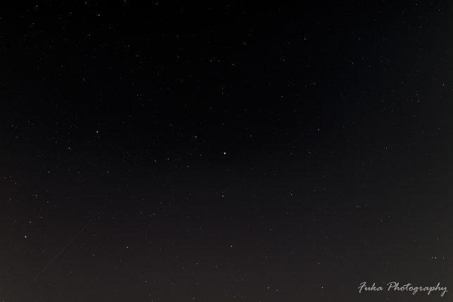 ふたご座流星群 北極星方向