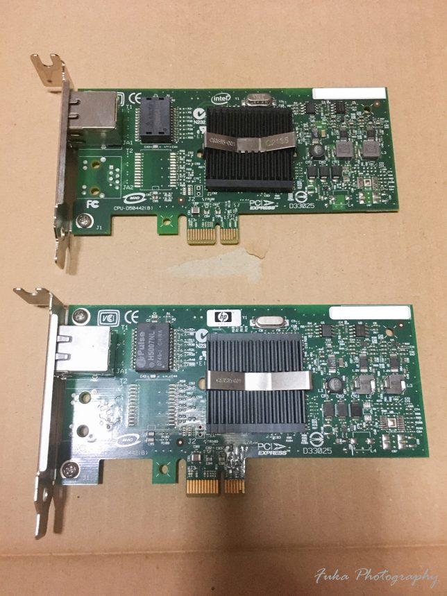 インテル PRO/1000 PT サーバ・アダプタ EXPI9400PTと HP NC110T PCI-E Gigabit Server Adapter