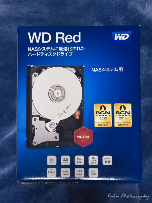 Western Digital Red 8TB WD80EFAX パッケージ