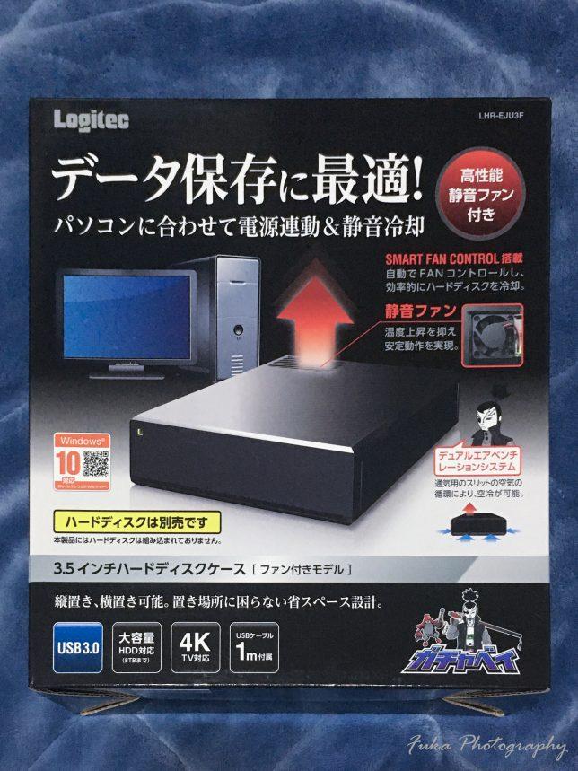 ロジテック 外付けハードディスク HDDケース ファン付き LHR-EJU3F パッケージ