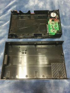 ロジテック 外付けハードディスク HDDケース ファン付き LHR-EJU3F 開けたところ